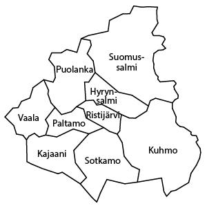 aluekartta Kainuu