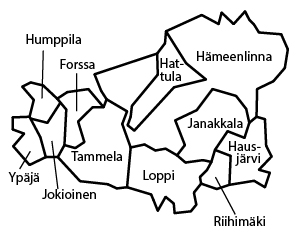 aluekartta Kanta-Häme