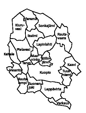 aluekartta Pohjois-Savo