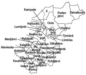 aluekartta Pohjanmaa