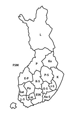 Yhdistykset kartalla